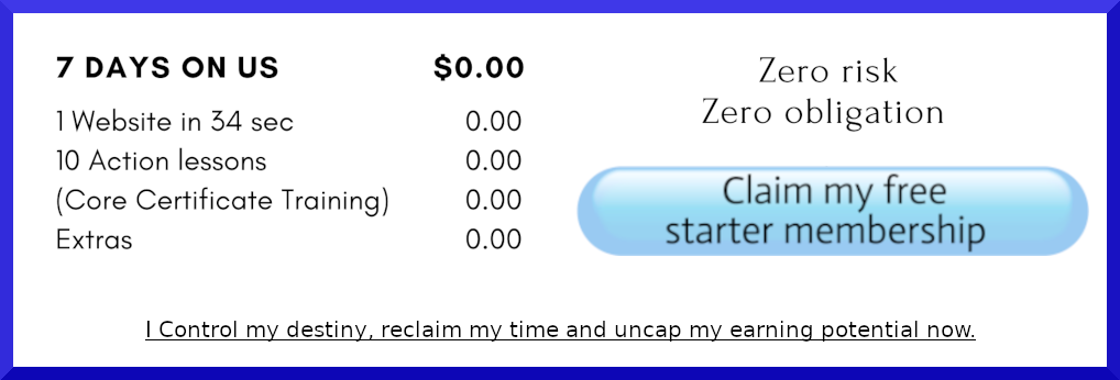 Claim My Free Affilliate Starter Membership