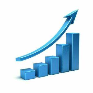 Business growth bar graph